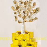 bunga tajuk tabak kecil perak2
