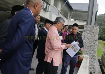 ROMBONGAN KDYMM PEMANGKU RAJA PAHANG SELAMAT MENDARAT DI TANAH RATA (19)